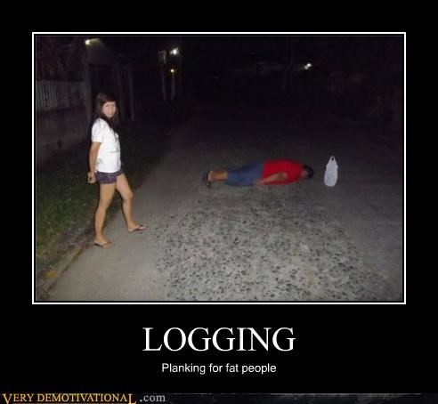 fat people hilarious logging Planking - 5018728704