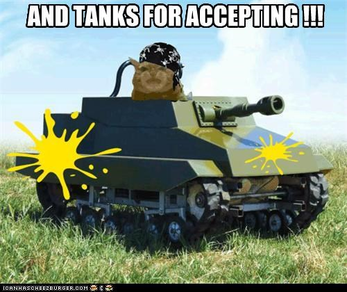 JUST A POLITE TANK EXCHANGE