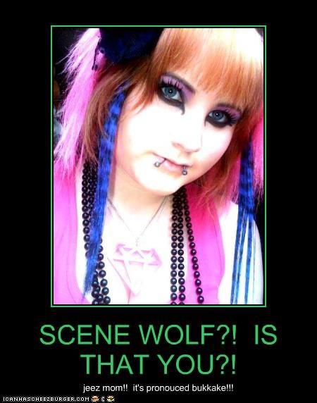 bukkake,scene wolf,weird kid