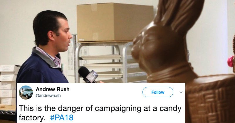 trump jr and chocolate bunny interview memes