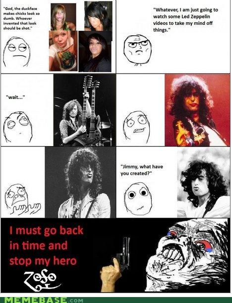 duck face led zeppelin noooo Rage Comics Sad