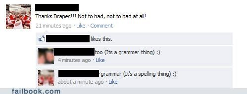 grammar,spelling,witty reply