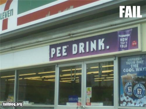 7-11 failboat gross innuendo pee signs - 5020076288