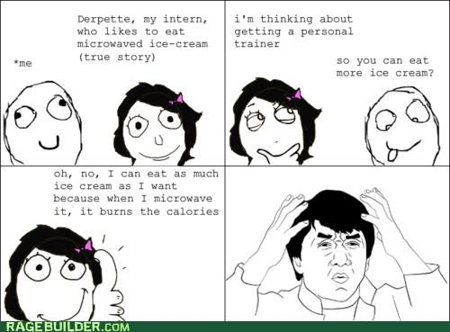 dumb,FAIL,ice cream,personal trainer,Rage Comics,wtf