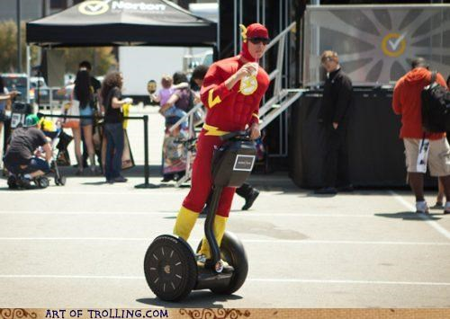 cosplay,flash,IRL,lazy,segway