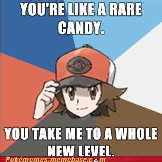 Evolve,level up,rare candy,red,romance