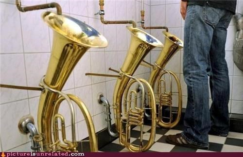 bathroom french horn pee urinal wtf - 5020419328