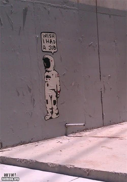 astronaut End Of An Era graffiti hacked irl nasa - 5020422912