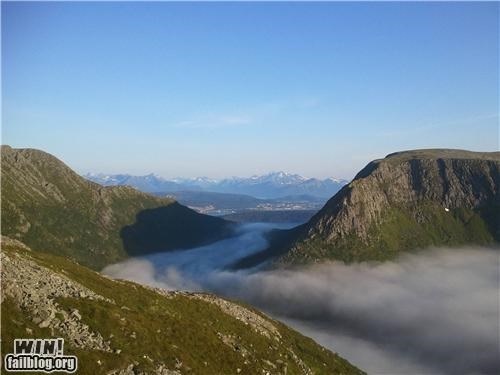 fog landscape mountains Norway - 5020425216