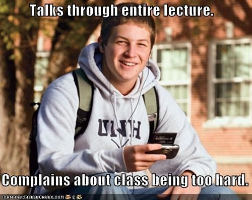 class college complaints lecture notes school uber frosh - 5020647680