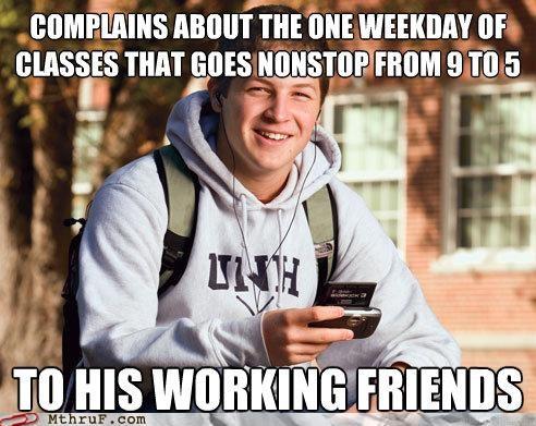 college college grad freshman meme work - 5020972544