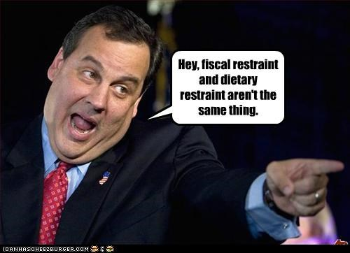 chins Chris Christie diet fat fiscal restraint money politicians Pundit Kitchen restraint - 5021012480