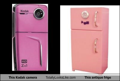 antique appliances camera fridge Hall of Fame pink
