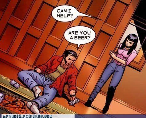 beer,help,wolverine,x men
