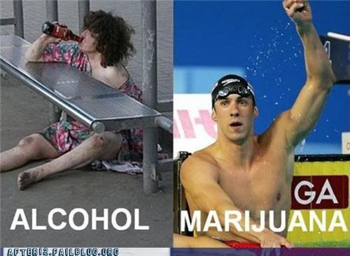 alcohol drunk Michael Phelps pot success - 5021249024