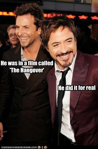 actor bradley cooper celeb funny Hall of Fame robert downey jr