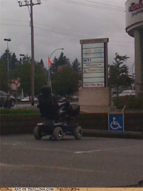 handicap IRL scooter stall what