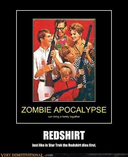 apocalypse,hilarious,redshirt,Star Trek,zombie