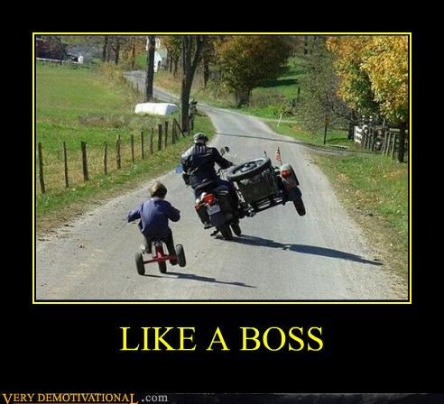hilarious kid Like a Boss motorcycle trike - 5022723328