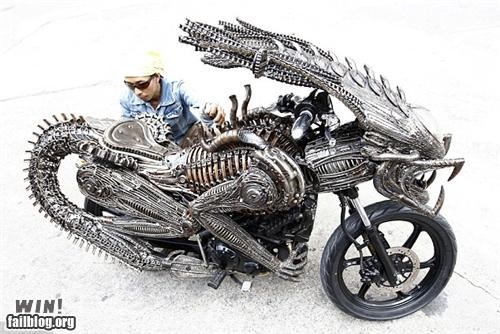 alien,bike,custom design,game over man,gieger