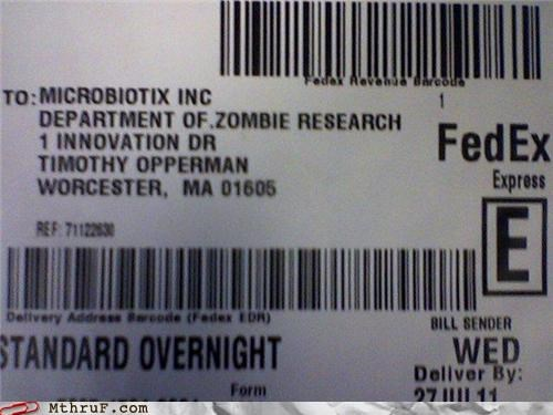 biotech,delivery,fedex,Hall of Fame,research,zombie