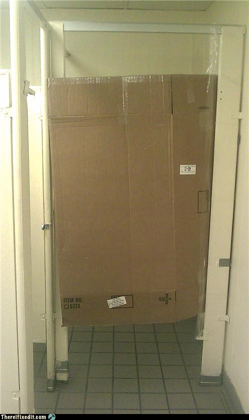 cardboard,dual-use-bathroom-kludge,poll