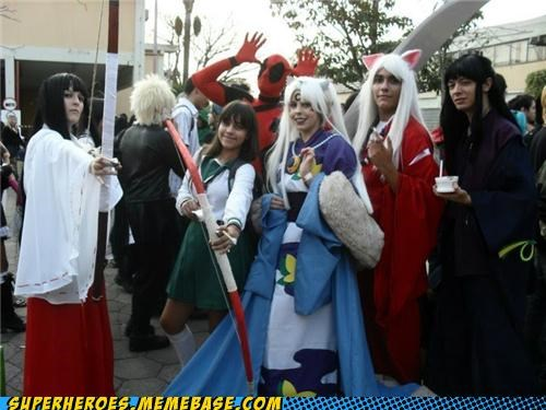 comic con,costume,deadpool,inuyasha,Super Costume