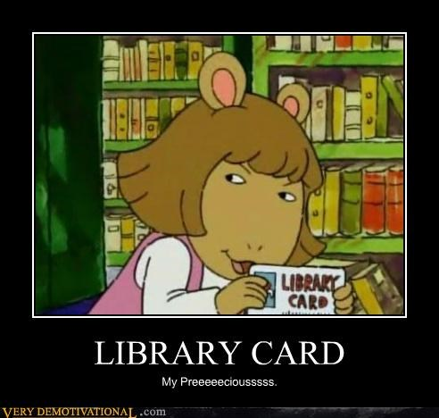 aurthur DW hilarious library card - 5023483136