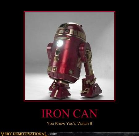 hilarious,iron can,iron man,r2d2,star wars