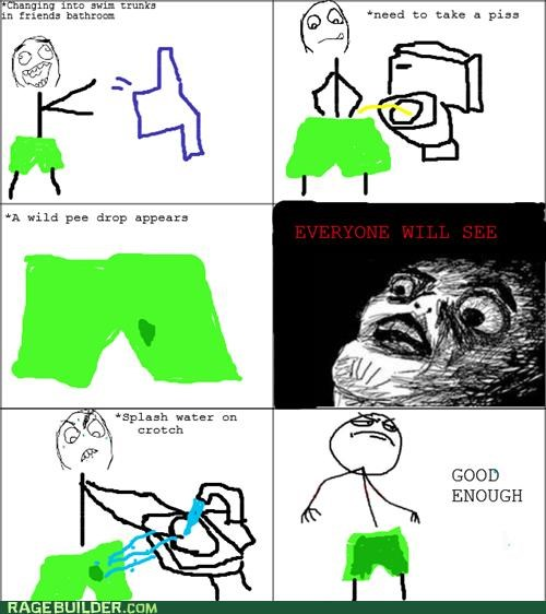 Close Enough,pee,Rage Comics,raisin face,spill,splash