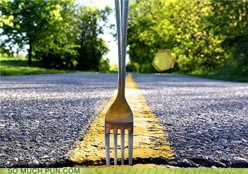 double meaning fork fork in the road literalism road