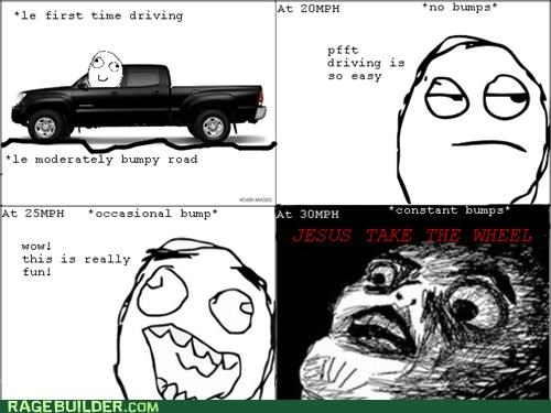 drivers ed,driving,first time,learning to drive,Rage Comics,scary