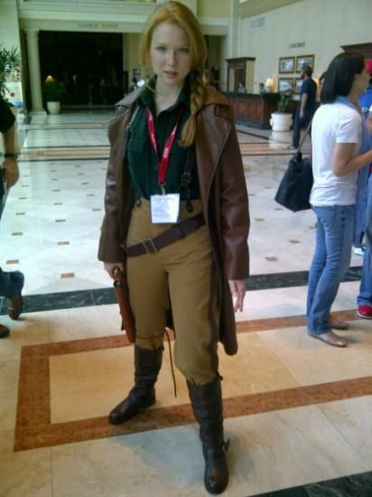 alexis castle captain malcolm reynolds castle comic con cosplay Firefly molly quinn nathan fillion tv shows - 5023746560