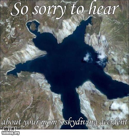 aerial shot,lake,lols,yo mama