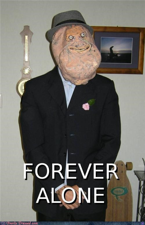 forever alone Hall of Fame mask meme - 5023897600