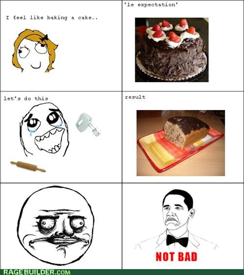brobama,cake,expectation,me gusta,not bad,Rage Comics,result