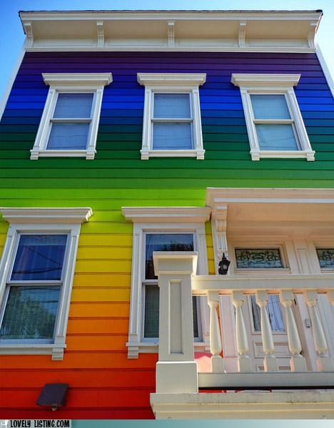 paint,rainbow,siding