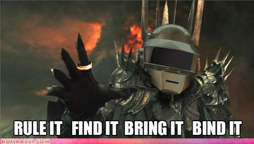 daft punk,funny,Lord of the Rings,sauron,sci fi,shoop