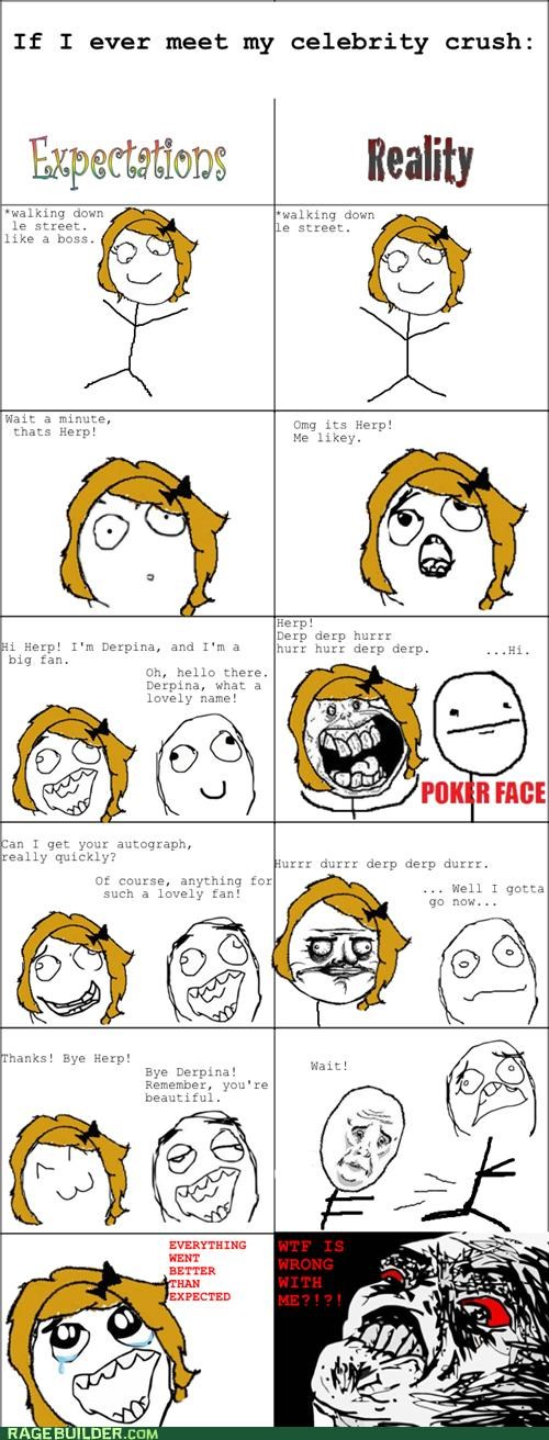 celeb crush everything went better than expected FAIL poker face Rage Comics stalker - 5024348416