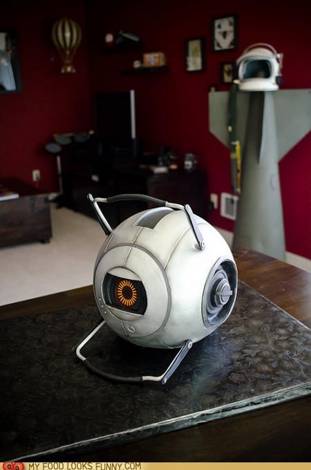 cake,game,portal 2,realistic,space core,video game