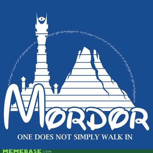 aragorn disney Lord of the Rings Memes mordor simply walk - 5024642816