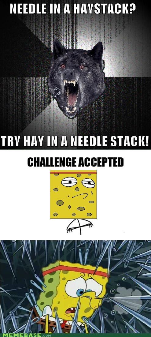 Challenge Accepted hay Insanity Wolf needle SpongeBob SquarePants television - 5024734208