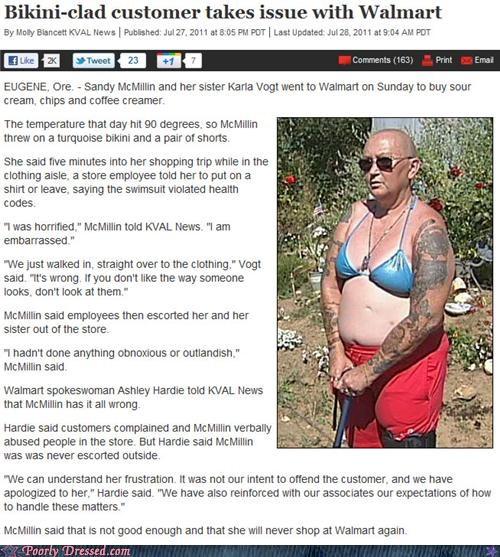 bikini,news,wal mart