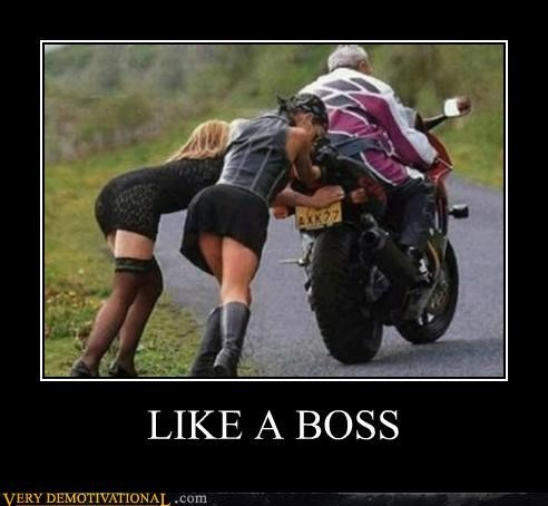 hilarious,motorcycle,pushing,Sexy Ladies,wtf