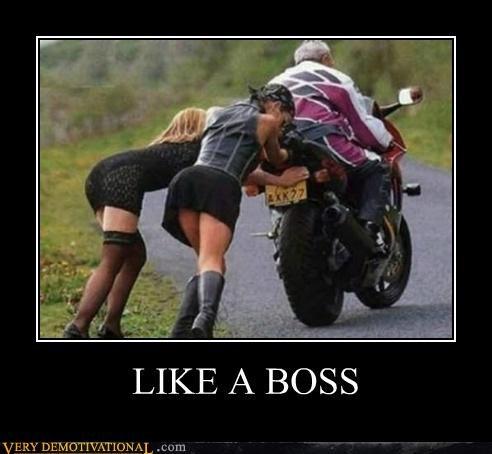 hilarious motorcycle pushing Sexy Ladies wtf - 5025056000