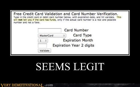 credit card hilarious internet seems legit wtf - 5025231872