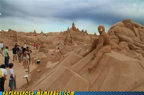 Awesome Art sand sculptures Spider-Man - 5025261824