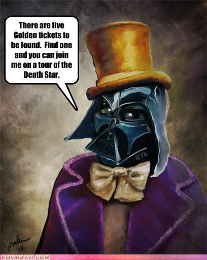 art cool darth vader Hall of Fame sci fi star wars Willy Wonka - 5025360384