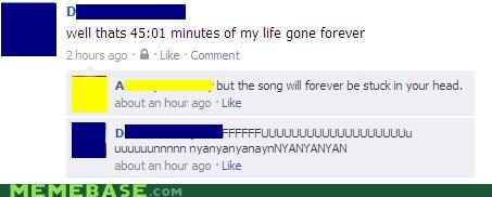 facebook,forever,head,Nyan Cat,song,ugh