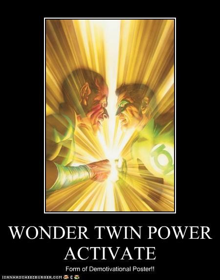 demotivational Green lantern Super-Lols wonder twins - 5025415680
